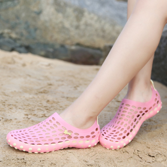 Malizhen female non-slip sandals and slippers sandals (Pink)