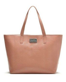 Mango Stone Effect Shopper Tote Bag (Peach)