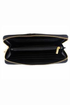 Mango Studded Saffiano Effect Zip Wallet Purse (Black) - 3