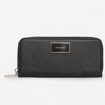 Mango Zip saffiano-effect Wallet-Black Price Philippines