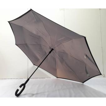 Manual Double Layer Reversible Umbrella (Grey)