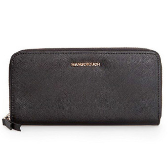 Mashana Mango Saffiano Effect Zip PU Leather Long Wallet PurseMS-SMB