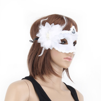 Masquerade Mask Set of 2 (White)