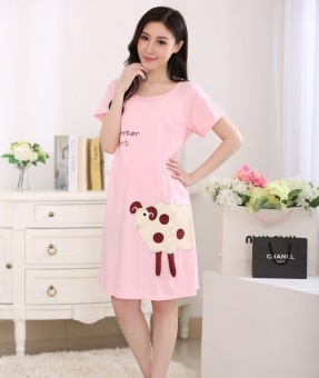 Maternity Clothing Casual Women Clothes Striped Maternity DressNursing Dress Long-Sleeve Pregnant Women Breastfeeding Dress - intl