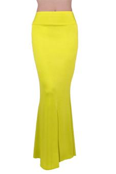 Maxi High Waist Skirt (Yellow)