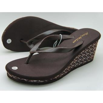 Maxmilan Selena Wedge Slippers (Brown) Price Philippines