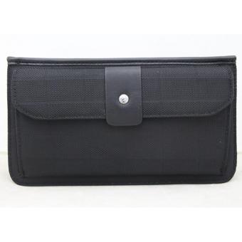 McJIM C-107-3013 Imported Canvas Clutch Bag (Black)