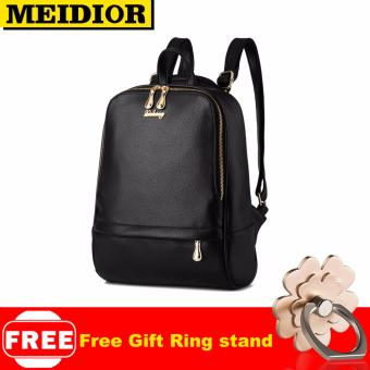 MEIDIOR Backpack Women Fashion Black Brand Back Pack School Bag For Teenagers Girls Bagpack 041