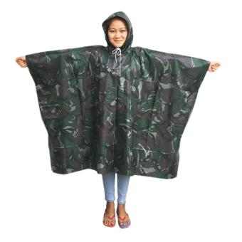 Meisons best quality rain coat poncho type ARMY green colorraincoat