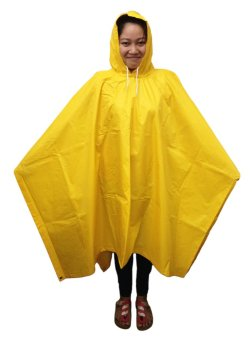 Meisons Best Quality Rain Coat Poncho Type (Yellow)