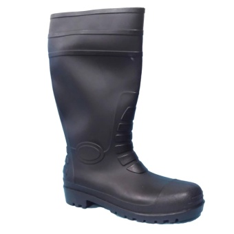 Meisons industrial rain boots with steel toe ARMOURED BLACK rubberboots