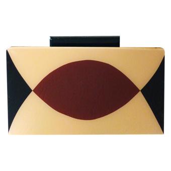 Melrose Jewelry Venn Clutch Bags (Brown)