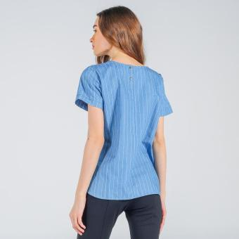 Memo Chambray Shirt With Curved Hem(Chambray) - 3