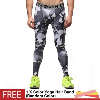 Men 3D Printed Workout Sports Tights Leggings Fitness Football Basketball Running Pants Elastic Compression Quick Dry Trousers - intl