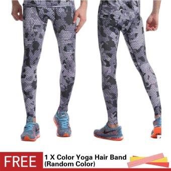 Men 3D Printed Workout Sports Tights Leggings Fitness FootballBasketball Running Pants Elastic Compression Quick Dry Trousers -intl
