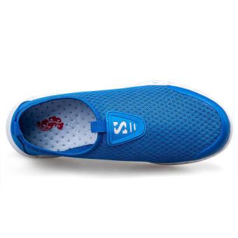 Men Breathable Mesh Low Cut Sneakers-Blue - picture 2