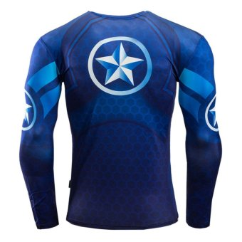 Men Compression Tight T-shirt Long Sleeves Prints Base Layer(Type12) - intl - 3