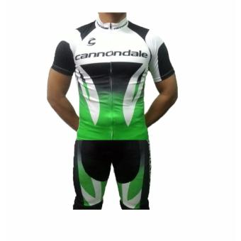Men Cycling Jersey and Non Bib Shorts Set Quick Dry Gel Padded Clothing-FNM (CANNON7)