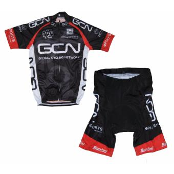 Men Cycling Jersey and Non Bib Shorts Set Quick Dry Gel Padded Clothing-FNM (GCN) - 3