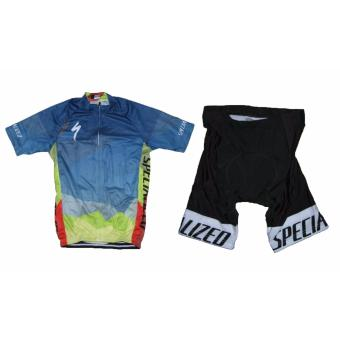Men Cycling Jersey and Non Bib Shorts Set Quick Dry Gel Padded Clothing-FNM (Spec15)
