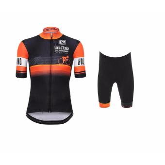 Men Cycling Jersey and Non Bib Shorts Set Quick Dry Gel PaddedClothing-FNM (Giroditalia)