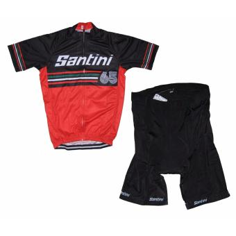 Men Cycling Jersey and Non Bib Shorts Set Quick Dry Gel PaddedClothing-FNM (SNTNI5)