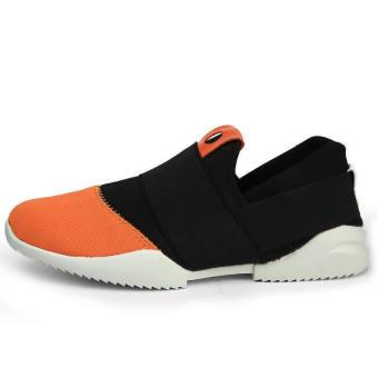 Men Fashion Bicolor Low Cut Sneakers-Black - picture 2
