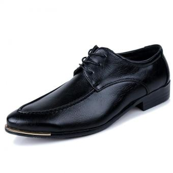 Men Fashion Formal Lace-ups Men Leather Shoes (BLACK) - Intl