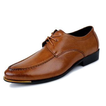 Men Fashion Formal Lace-ups Men Leather Shoes (BROWN) - Intl