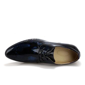 Men Fashion Lace-Ups Shoes (Blue) - picture 2