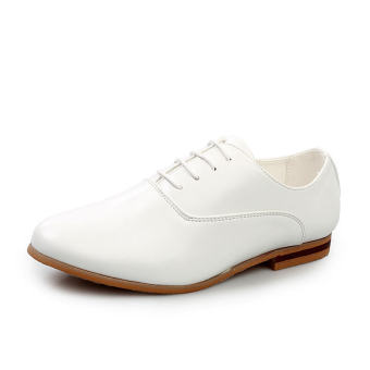 Men Fashion Leather Formal Business Shoes - White