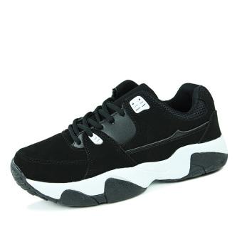 Men Fashion Leisure Trend Low Cut Sneakers-Black