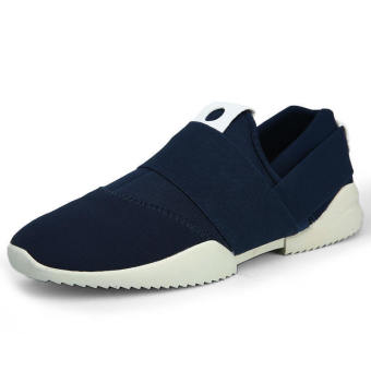 Men Fashion Low Cut Sneakers-Blue