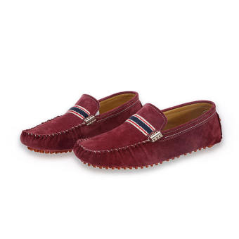 Men Fashion Seasons Leather Loafers (Wine Red)