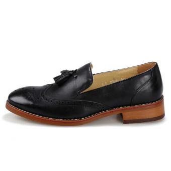 Men Fashion Tassel Loafers -Black