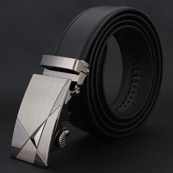 Men Genuine Leather Belt luxury Black Hot Brand Business Men BeltLeather Auto Buckle Waistband