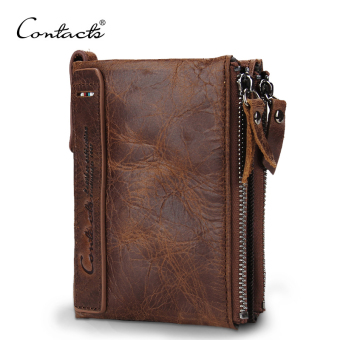 Men Genuine leather wallet Crazy Horse Cowhide Leather Men Wallet Coin Purse Small Vintage Wallet