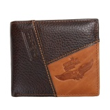 Men PU Leather ID Credit Card Holder Clutch Bifold Coin Wallet Pocket (Coffee) - intl