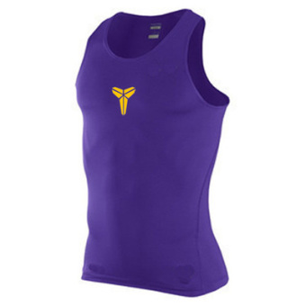 Men quick-drying ultra-stretch I fitness clothing training vest (Kobe Bryant-purple)