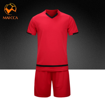 Men training Teenager soccer clothes jersey (Bright Red)