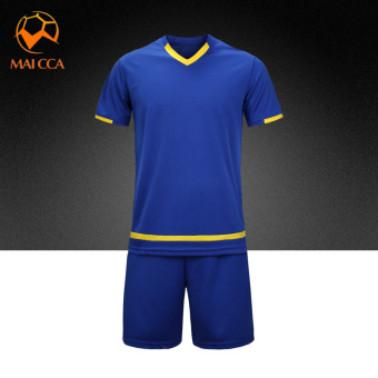 Men training Teenager soccer clothes jersey (Color Blue)