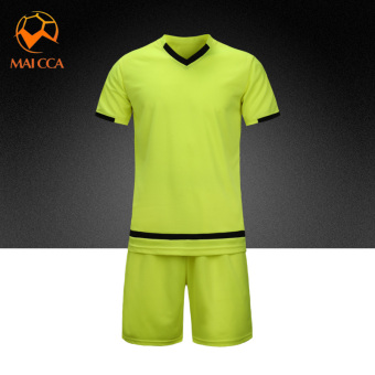 Men training Teenager soccer clothes jersey (Flourescent green)