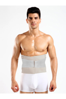 Men Waist Abdomen Shaper Tummy Trimmer Cincher Girdle Belt Burn Fat Gray