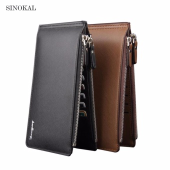 Men Wallets Zipper Male Long PU Leather Wallet Card Holder ClutchBags Zipper and Hasp Credit Card Money Bags - intl