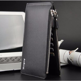 Men Wallets Zipper Male Long PU Leather Wallet Card Holder ClutchBags Zipper and Hasp Credit Card Money Bags - intl - 5