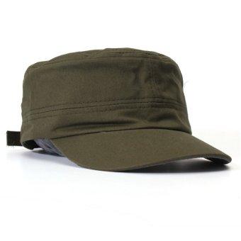 Men Women Adjustable Army Plain Baseball Hat Classic Cadet Military Sport Cap - 3