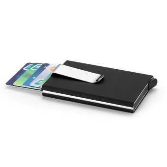 Men Women Aluminum Slim ID Credit Card Protector Holder Purse Wallet Money Clip Black - intl - 2