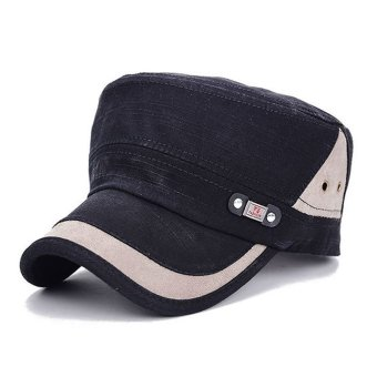 Men Women Classic Adjustable Army Plain Hat Cadet Military BaseballSport Cap (Black)- Intl Price Philippines