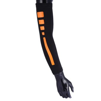 Men Women Compression Arm Sleeves Elbow Support Protector (Black L) - intl