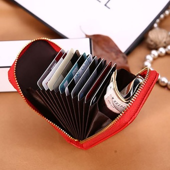 Men Women Leather Credit Card Holder Case Card Holder WalletBusiness Card RD - intl Price Philippines